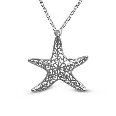 Filigree Starfish Pendant