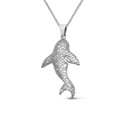 Filigree Shark Pendant
