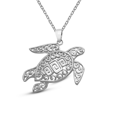 Filigree Turtle Pendant