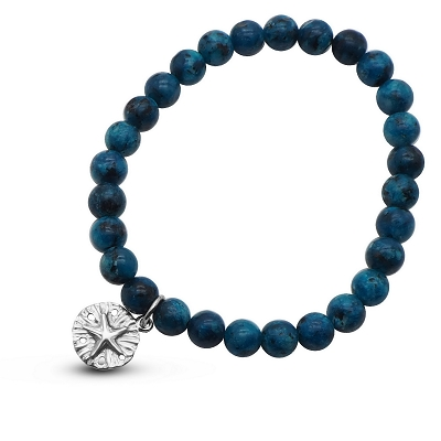 Blue Starfish Sandollar (17cm-7in) Bracelet