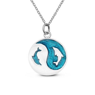 Swimming Dolphins (Yin Yang) Pendant