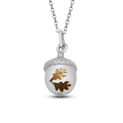 Leaves on Acorn Pendant