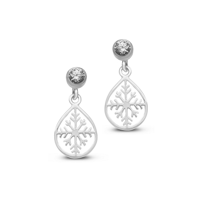 Snowflake Drops Earrings