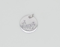 Family of 5 Coin Pendant