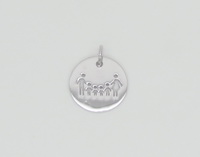 Family of 6 Coin Pendant