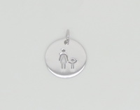 Single Mom & Child Coin Pendant