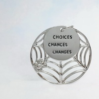 Spider Web-Choices Chances Changes Pendant
