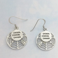 Spider Web-Choices Chances Changes Earrings