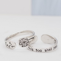 Dandelion | this too shall pass Ring