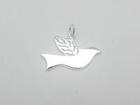 Dove with Olive Leaf Wings Pendant
