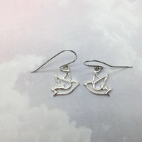 Cutout Dove - Earrings