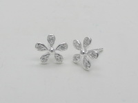 Clear Flowers Earrings