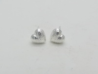 Netted Hearts (6.5mm) Earrings