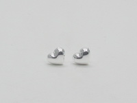 Hearts (7x5.5mm Puff) Earrings