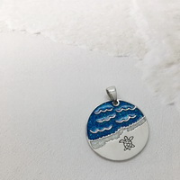 Baby turtle off to sea Pendant