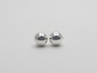Round Dome (8mm) Earrings