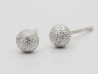 Diamond Cut Round Dome (5mm) Earrings