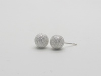 Diamond Cut Round Dome (8mm) Earrings