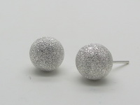 Diamond Cut Round Dome (9mm) Earrings