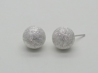 Diamond Cut Round Dome (10mm) Earrings