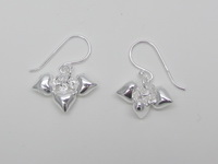 Triple Heart Dangle (7mm) Earrings
