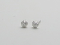 Netted Half Dome (4mm) Earrings