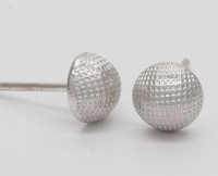 Netted Half Dome (6mm) Earrings