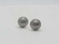 Netted Half Dome (9mm) Earrings