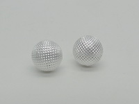 Netted Half Dome (10mm) Earrings