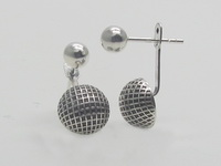 Netted Half Dome (5mm-9mm) Earrings