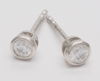3mm Solitaire Earrings