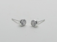 4mm Solitaire Earrings