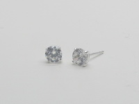 5mm Square Prong Solitaire Earrings