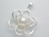 White Pearl Flower (Bloom) Pendant