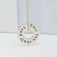 This too shall pass | All is well (Double Sided) Pendant