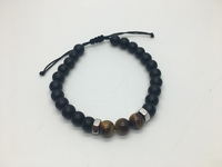 Nuggets with Tiger-Black Beads (20cm) Cord