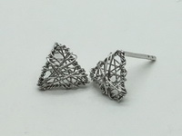 Triangle Mesh Earrings