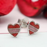 Ribbon Hearts Earrings