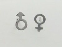 Male-Female Symbol Earrings