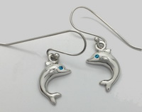 Blue Eyed Dolphins - Earrings