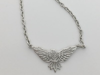 Uplifted Soaring Eagle Necklace
