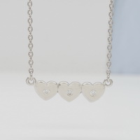 Triple Hearts (46-5cm-20in-) Necklace