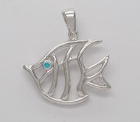 Blue Eyed Angel Fish Pendant