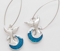 Splashing Whale Tails - Earrings