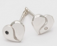 Yin Yang Hearts - Earrings