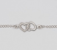 Roped Hearts (17-3cm) Bracelet