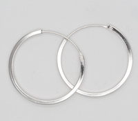 Square Endless Hoop (2x30mm) Earrings