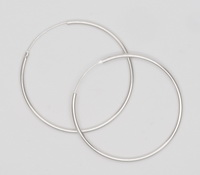 Round Endless Hoop (2x50mm) Earrings