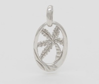 Palm Tree Waves Pendant