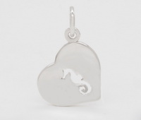 Seahorse in Heart Pendant